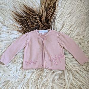 Tartine et Chocolat pink sweater 6M